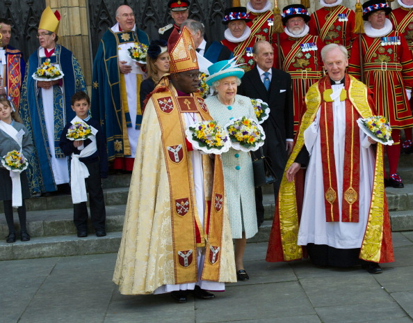 Королева Елизавета II, принц Филипп и принцесса Беатрис посетили службу в Йоркском соборе. Фоторепортаж. Фото: Arthur Edwards/WPA Pool/Getty Images