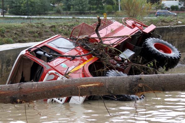 Фоторепортаж о наводнение во Франции. Фото: VALERY HACHE/AFP/Getty Images