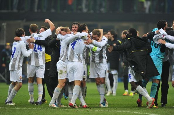 ЦСКА выиграл у «Интера» и вышел в плей-офф. Фоторепортаж и видео с матча. Фото: Claudio Villa/Getty Images