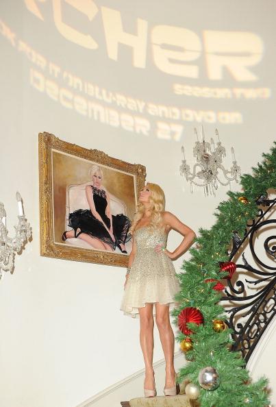 Пэрис Хилтон на рождественском празднике  Paris Electric Christmas. Фото: Jason Merritt/Getty Images