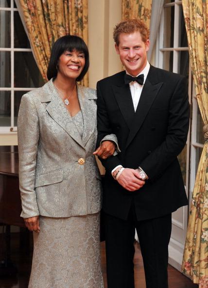 Принц Гарри и премьер-министр Ямайки Порция Симпсон-Миллер. Фоторепортаж. Фото:  Chris Jackson, John Stillwell - Pool/Getty Images