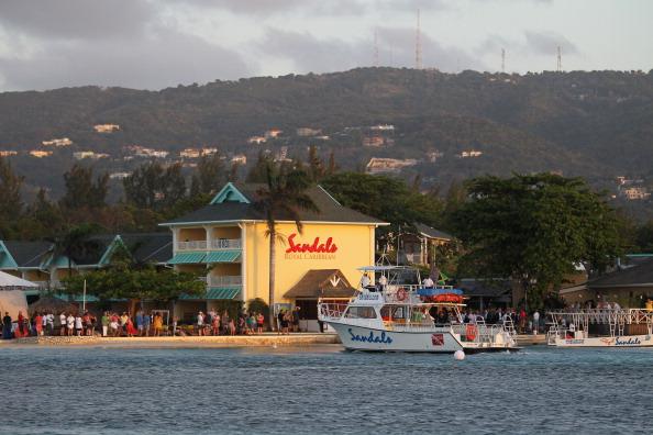 На Ямайке в Сандалии посетил частный остров. Фоторепортаж. Фото:  Chris Jackson, John Stillwell - Pool/Getty Images