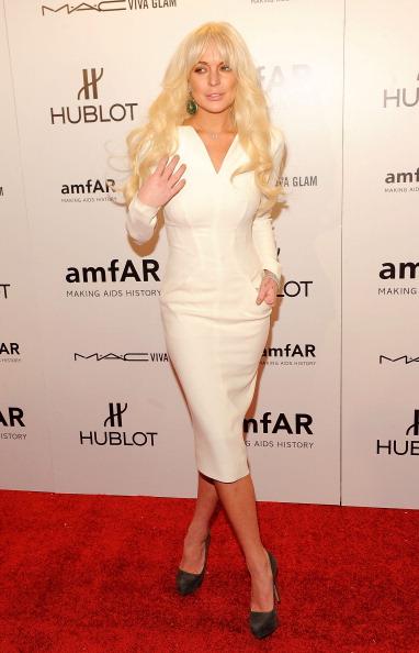 Звезды на открытии Недели Моды в Нью-Йорке. Lindsay Lohan. Фоторепортаж. Фото: Jemal Countess/Getty Images