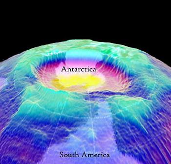 Озоновая дыра над Арктикой обнаружена исследователями атмосферы. Фото с сайта strana.zambia.in.ua