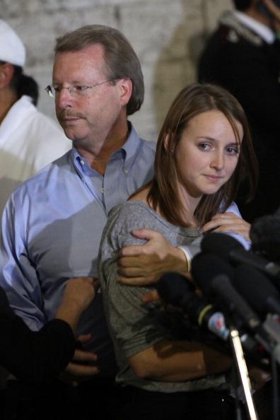 Аманда Нокс, обвиняемая в убийстве,  признана невиновной. Фоторепортаж из Перуджи. Фото: Franco Origlia/Getty Images