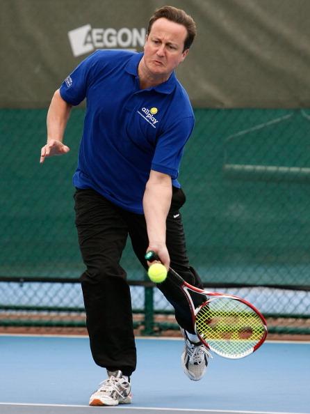 Фоторепортаж о Дэвиде Кэмероне в Национальном  теннисном центре. Фото: Tom Dulat/Getty Images for LTA