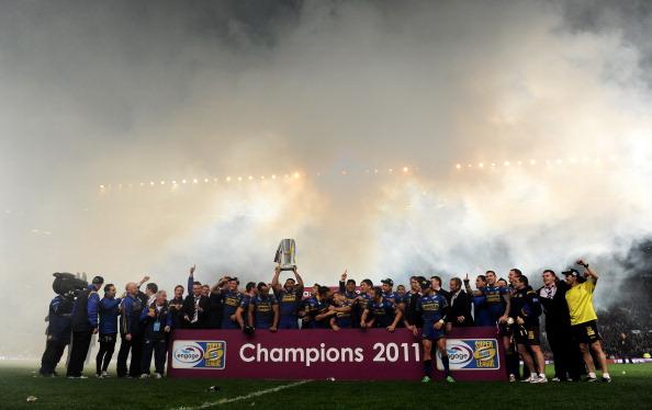 Регби.  Гранд финал в Суперлиге выиграла команда Лидс Rhinos. Фото: Michael Steele/Getty Images