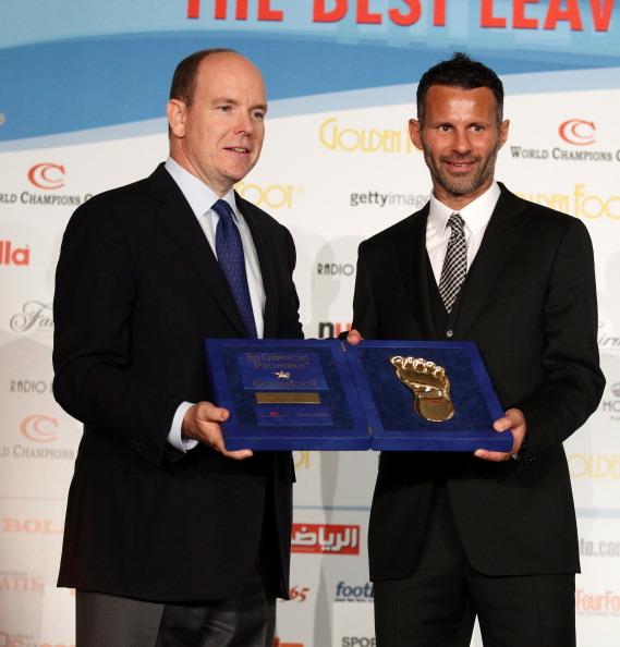 Райан Гиггз награжден премией Golden Foot. Фоторепортаж из Монако. Фото: Marco Luzzani/Getty Images for Golden Foot