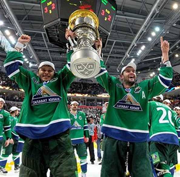 Кубок Гагарина достался уфимскому хоккейному клубу