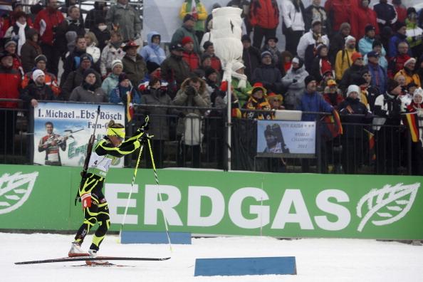 Российская сборная по биатлону завоевала бронзу. Фоторепортаж из  Хохфильцена. Фото: Christophe Pallot/Agence Zoom/Getty Images