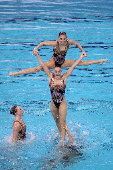 Фоторепортаж с заключительных  выступлений команд по синхронному плаванию в Пекине. Фото:  Feng Li/Getty Images
