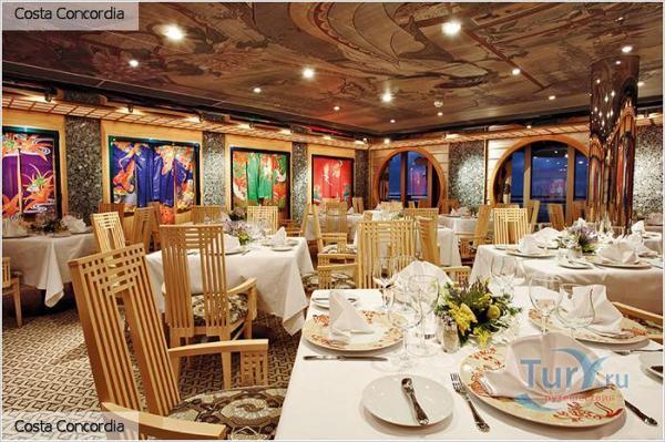 «Коста Конкордия»  (Costa Concordia) – один из крупнейших круизных кораблей итальянского  пассажирского флота Costa Фото с сайта tury.ru