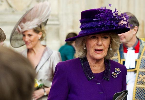 Королевская семья Великобритании отметила День Содружества. София, графиня Уэссекская и Камилла, герцогиня Корнуэльская.  Фоторепортаж.  Фото:  Leon Neal-WPA Pool/Getty Images