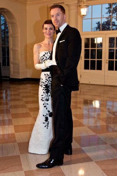 Гости на приеме в Белом доме. Helen McCrory и Damian Lewis. Фоторепортаж. Фото: Brendan Hoffman, MANDEL NGAN/AFP/Getty Images