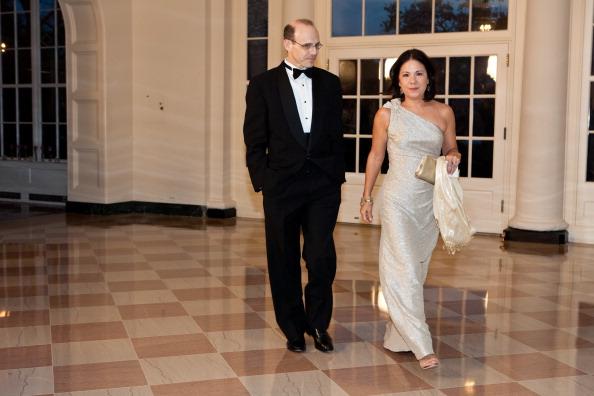 Гости на приеме в Белом доме. Jason P. DeParle; Nancy Ann Min DeParle. Фоторепортаж. Фото: Brendan Hoffman, MANDEL NGAN/AFP/Getty Images