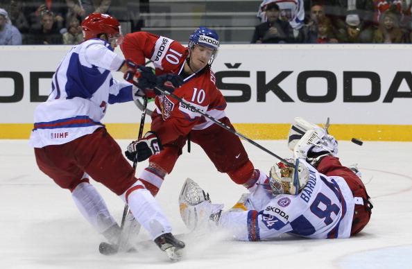 Сборная России проиграла чехам в борьбе за бронзу со  счетом 7:4.   Фоторепортаж с матча.  Фото:  Martin Rose/Bongarts/Getty Images