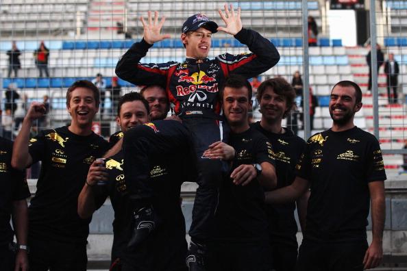 Кубок Конструкторов «Формулы-1» достался команде Red Bull. Фоторепортаж с Гран-при Кореи. Фото: Clive Mason/Getty Images