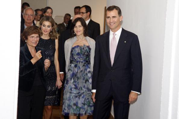 Принц и принцесса Испании Фелипе и Летиция на выставке в музее Жоана Миро в Барселоне. Фото: Miquel Benitez/Getty Images