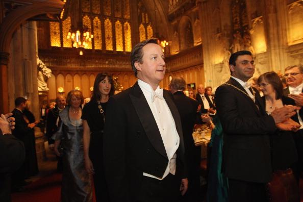 Премьер-министр Британии принял участие в банкете в честь лорда-мэра Лондона. Фото: Dan Kitwood/Getty Images