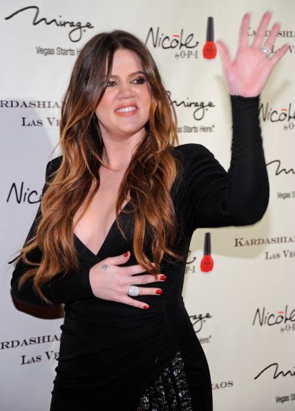 На открытии семейного бутика Kardashian Khaos в Лас-Вегасе. Khloe Кардашян. Фото: Ethan Miller/Getty Images