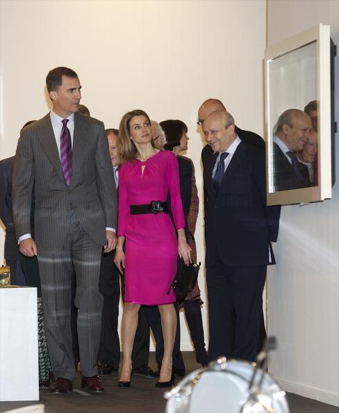 Принц и принцесса Испании Фелипе и  Летиция на открытии ярмарки ARCO Fair 2012 в Мадриде. Фоторепортаж. Фото: Carlos Alvarez/Getty Images