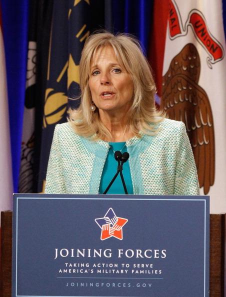 Мишель Обама в Пентагоне обсуждала доклад о финансовом положении семей военных. Фоторепортаж. Фото: Chip Somodevilla/Getty Images