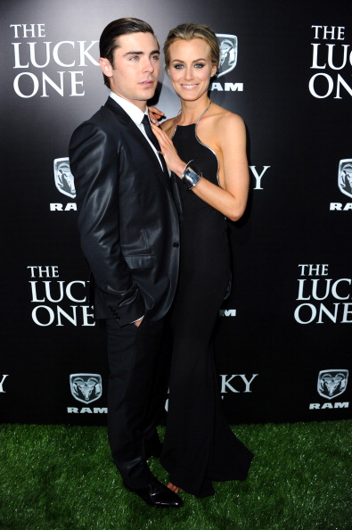 Актёры Зак Эфрон (Zac Efron) и Тейлор Шиллинг (Taylor Schilling) на премьере кинофильма «Счастливчик» в китайском кинотеатре Grauman в Голливуде. Фоторепортаж. Фото: Alberto E. Rodriguez / Getty Images