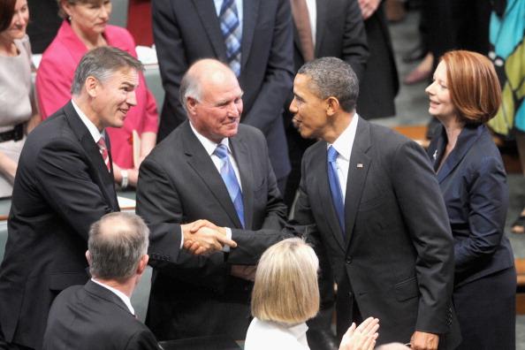 Фоторепортаж о Бараке Обаме во второй день в Канберре. Фото: Andrew Taylor /Stuart McEvoy - Pool/Getty Images