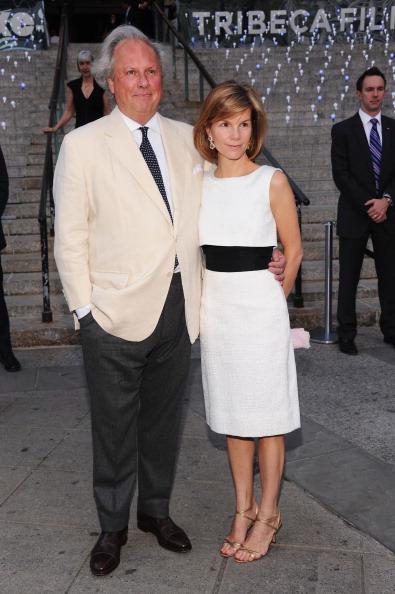 Грейдон Картер (Graydon Carter) и Синтия Уильямсон (Cynthia Williamson) на вечеринке Vanity Fair в честь открытия кинофестиваля Tribeca-2012. Фоторепортаж. Фото: Jamie McCarthy / Getty Image