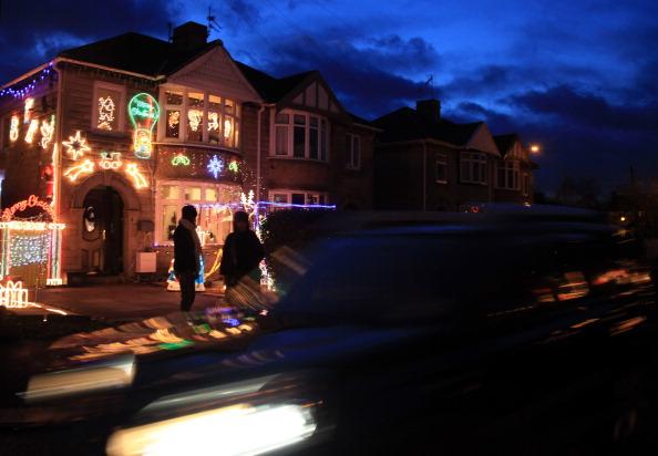 Рождественские  огни  в  Великобритании.  Фото: Matt Cardy/Getty Images