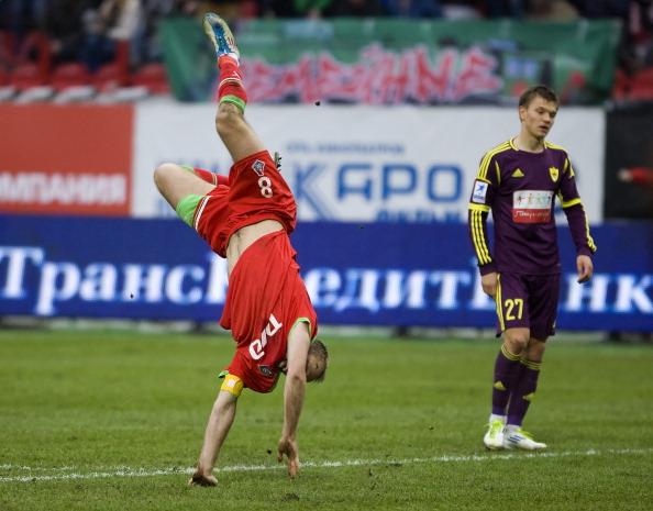 Гол Глушакова был единственным в игре «Локомотива» с «Анжи». Фоторепортаж с матча. Фото: Dmitry Korotayev/Epsilon/Getty Images