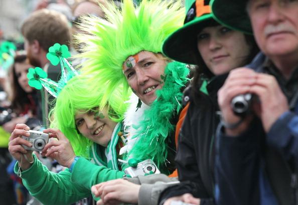 Парад в честь Дня Святого Патрика в Дублине. Фоторепортаж. Фото: PETER MUHLY/AFP/Getty Images
