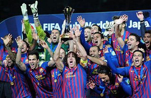 «Барселона» разгромила «Сантос» со счетом  4:0. Фоторепортаж с матча. Фото:  Lintao Zhang/Getty Images