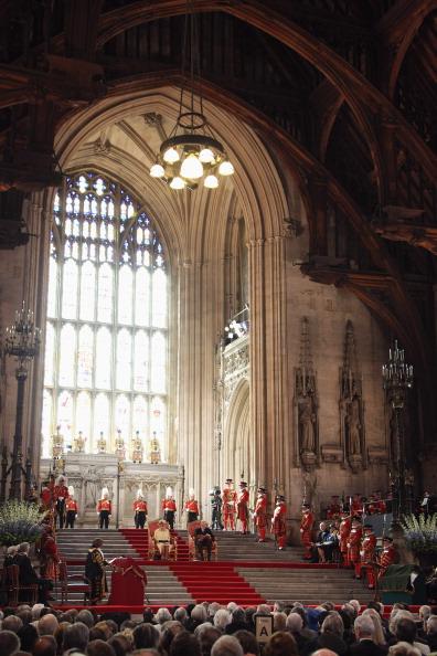Королева Елизавета II выступила в Вестминстерском зале в честь 60-летия своего правления. Фоторепортаж. Фото: Toby Melville - WPA Pool/Getty Images