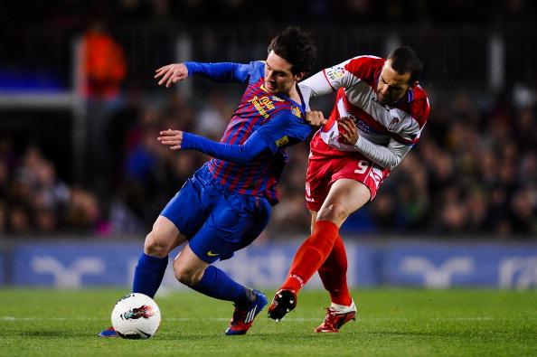 «Барселона»  переиграла  «Гранаду»  благоаря хет трику Месси. Фоторепортаж с матча. Фото:  David Ramos/Getty Images