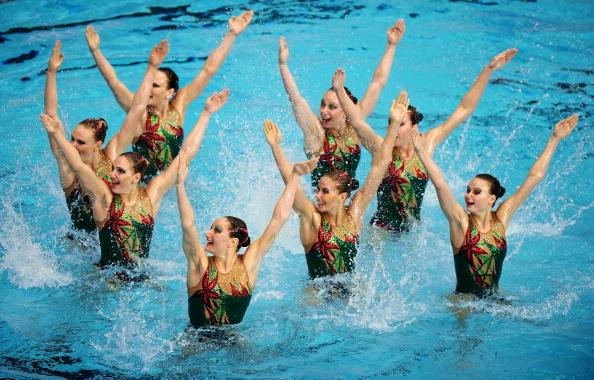 Фоторепортаж о выступлении сборной России на чемпионате кубка Европы  по синхронному плаванию. Фото: Clive Mason/Getty Images