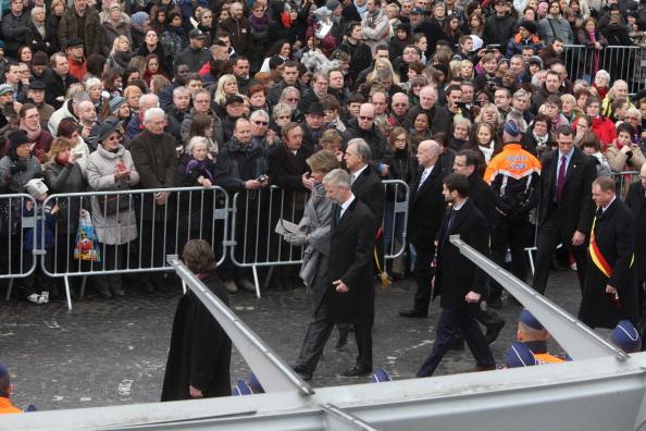 Принцесса и  принц Бельгии Матильда и Филипп на памятной церемонии в городе Льеже. Фото: Mark Renders/Getty Images
