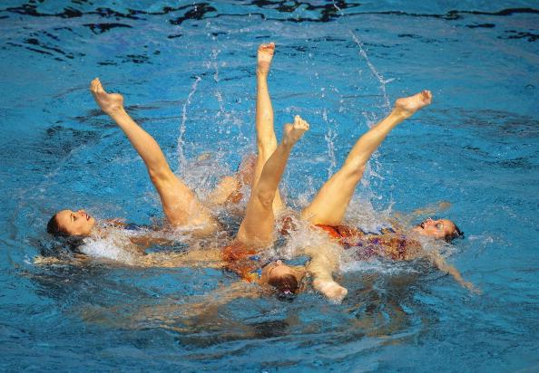 Сборная России выиграла золото на чемпионате Европы  по синхронному плаванию. Фоторепортаж из Шеффилда.  Фото: Clive Mason/Getty Images