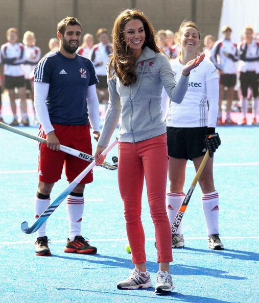 Кэтрин, герцогиня Кембриджская, в Олимпийском парке играла в хоккей.  Фоторепортаж. Фото: Chris Jackson - WPA Pool /Getty ImagesОлимпийск
