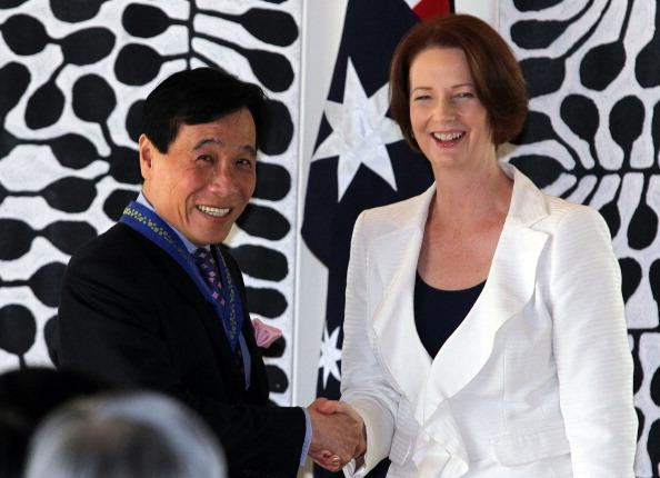 Визит Джулии Гиллард (Julia Gillard) в Сингапур. Фоторепортаж  из Istana. Фото: Nicky Loh/Getty Images