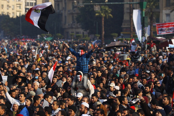В Египте празднуют годовщину свержения режима Хосни Мубарака. Фоторепортаж. Фото: Mitchell/Getty Images