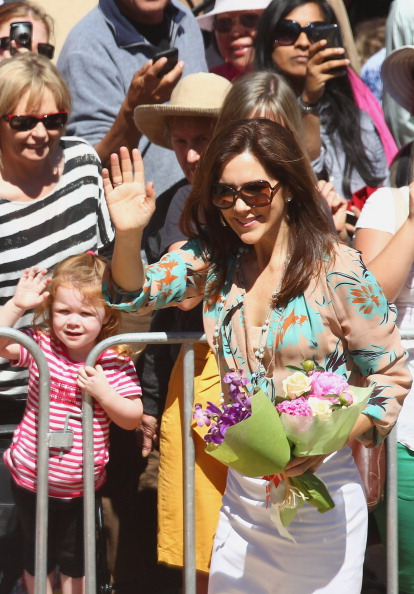Фоторепортаж о принце  и принцессе Дании Фредерике и Мэри  в Мельбурне. Второй день.  Фото: Scott Barbour/Getty Images
