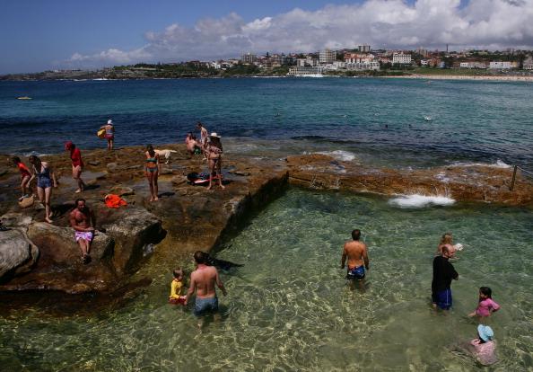 Рождество на пляже Bondi Beach в Австралии. Фоторепортаж. Фото: Don Arnold/Getty Images