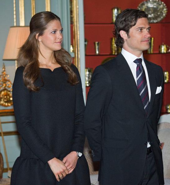 Камилла и принц Чарльз встретились с королевской семьей Швеции. Принцесса и  принц Швеции  Мадлен и Карл Филипп. Фоторепортаж. Фото: Chris Jackson/Getty Images