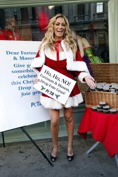 Шантель Хоутон выпустила антирекламу фуа-гры  компании Fortnum and Masons. Фоторепортаж. Фото: Neil Mockford / Getty Images
