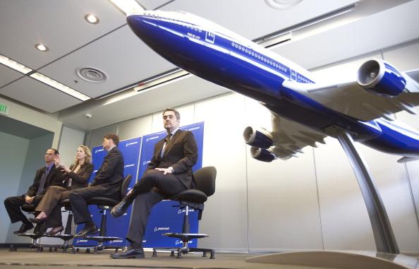 Самый большой самолет Boeing Delivers -747-8. На пресс-конференции, проводимой в музей Future of Flight в Mukilteo, Вашингтон, о достоинствах Boeing Delivers 747-8 Intercontinental. Фоторепортаж. Фото: Stephen Brashear/Getty Images