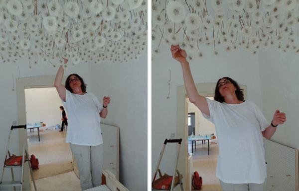 Подвесной потолок из одуванчиков. Фото с сайта fresher.ru