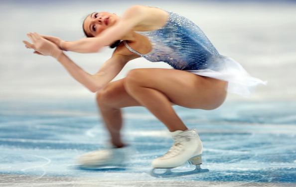 Выступление Полины Коробейниковой на чемпионате Европы по фигурному катанию. Фоторепортаж из Шеффилда. Фото: LEON NEAL/AFP/Getty Images
