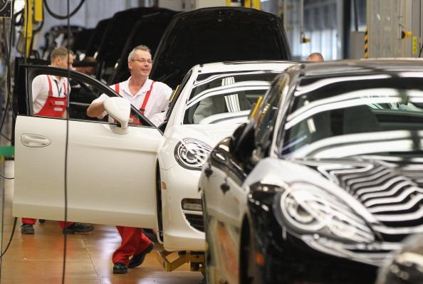Фоторепортаж c завода Porsche в Лейпциге. Фото: Sean Gallup/Getty Images