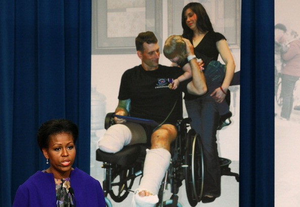 Мишель Обама провела  пресс-конференцию в Министерстве труда в Вашингтоне. Фоторепортаж. Фото: Mark Wilson/Getty Images